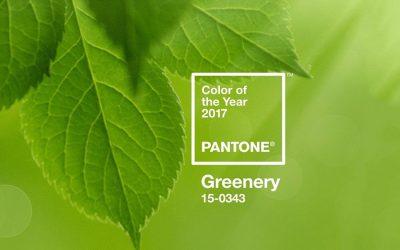 Decora con el color del 2017: GREENERY